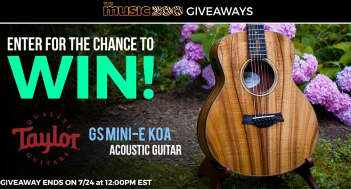 The Music Zoo's Taylor Guitar Giveaway – Win GS Mini-E Koa Acoustic
